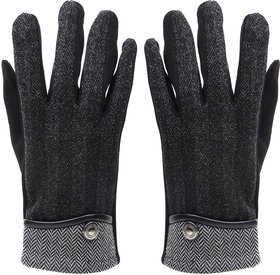 Bonjour Gloves For Men- Black