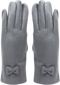 Bonjour Gloves For Women- L.Grey