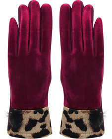 Bonjour Gloves For Women- Maroon