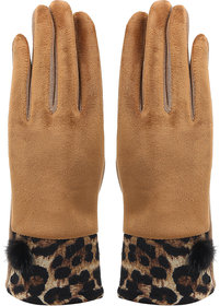 Bonjour Gloves For Women- Brown