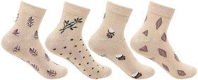Bonjour Women Skin Ankle Socks - Pack Of 4