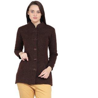 Starscollection Women Ladies Girls Round Neck Self Design Woolen Sweater Winter