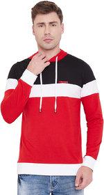 Men Black Red Hooded T Shirt