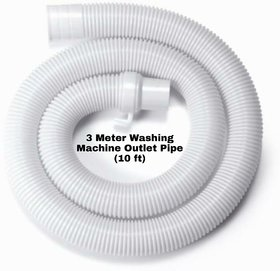 Washing Machine Outlet Pipe / Universal Washing Machine Drainage Outlet Pipe 10Ft. (3 Meters)