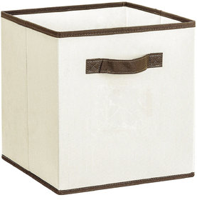House Of Quirk Foldable Cloth Storage Cube Basket Bins Organizer Containers Drawers Pack Of 1, Beige