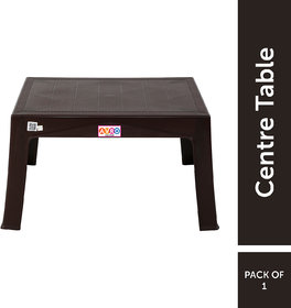 Avro Creta Table,Strong And Sturdy Structure, 1 Year Guarantee, Finish Colourbrown