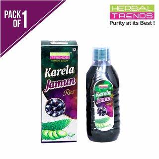 Herbal Trends Premium Karela Jamun Juice-500Ml- Pure, Undiluted, Unadulterated