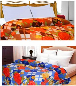 K Decor Assorted Colours Beautifull Combo Of Ac Blankets