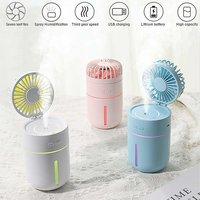 Arroha Usb Fan Cooler Quiet T9 Humidifier Travel Usb Desk Fan Portable Room Air Purifier(Multicolor)