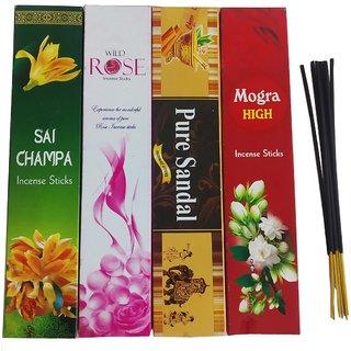 Uniqon (Pack Of 4) Multi-Fragrance Scented Premium Incense Sticks Agarbatti