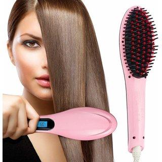 Trendy Trotters Hair Straightener Brush   Hair Straightener   Hqt 906, Pink