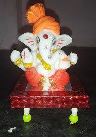 Lord Ganesha Ganesh Ganpati Car Dashboard Idol Hindu Figurine Showpiec