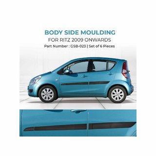 Car Door Side Beading For Maruti Suzuki Ritz 2009 Onward (Set Of 6 Pieces)