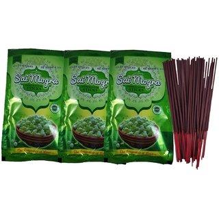 Uniqon Zipper (Pack Of 3)Mogra/Jasmine Scented Premium Incense Sticks Agarbatti