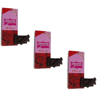 Uniqon (Pack Of 3) Rose/Gulab Scented Premium Incense Sticks Dhoop Batti