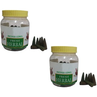 Uniqon (Pack Of 2) Premium Fresh Herbal Scented Incense Dhoop Cones Box