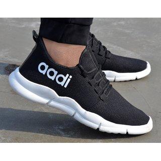 Aadi Men's White Mesh Running Sport Shoes