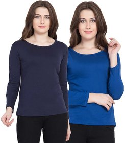 Haoser Round Neck Women T Shirts Combo Of 2 For Women And Girls