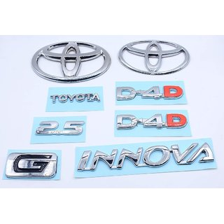 Car Monogram Emblem Decals Logo For Innova 2.5 D-4.D G