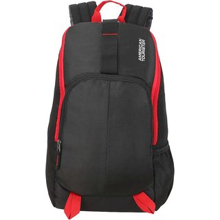 American Tourister 21 Ltr Black Red Laptop Backpack