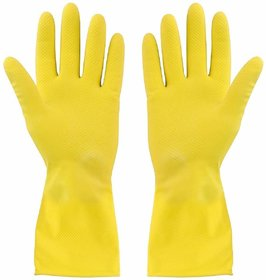 Eastern Club House Hold Cleaning Rubber Hand Gloves, Kitchen,Washing Toilet Cleaning,Garden (1 Pair)