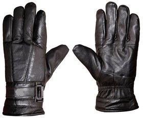 Tahiro Black Leather Gloves   Pack Of 1