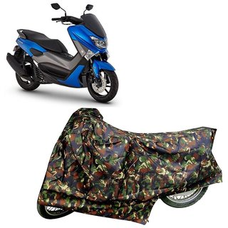 De Autocare Junglee Matty Two Wheeler Scooty Body Cover For Yamaha Nmax 155 With Mirror Pockets