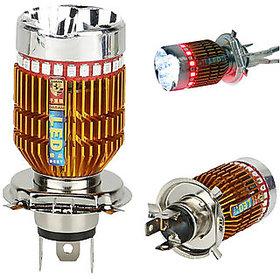 H4 Led Flasher Headlight Bulb Of 8000K For All Bikes
