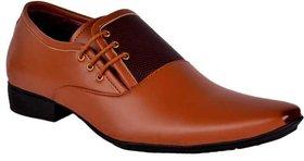 Oora Men's Formal Brown Colour Faux Leather Lace-Up Dress Shoes