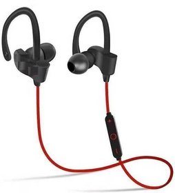 Techvik Qc 10 Wireless Bluetooth Stereo Music And Volume Controller Headset With Mic Best For Running, Jogging, Gymming