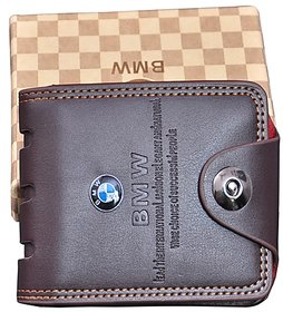 BMW Men Brown PU Bi-fold Wallet