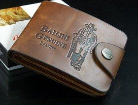 Fashlook Brown Leatherite Balini Casual Bi-fold Wallet
