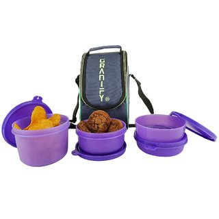 Granify Lunch Box ( 4 Containers With Bag Cover ) A