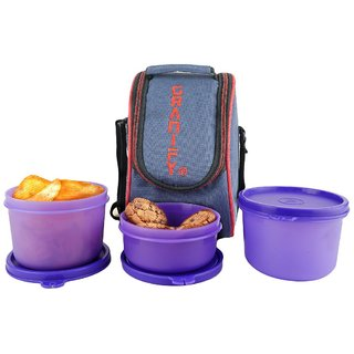 Granify Lunch Box ( 3 Containers With Bag Cover ) A