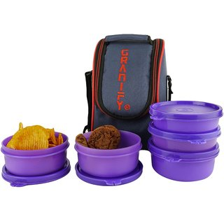 Granify Lunch Box ( 5 Containers With Bag Cover ) A