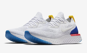 Nike White Epic React Sole Flyknit Unisex Running Shoes