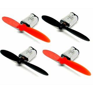 Stookin Dc 3.7V 720 7X20Mm Micro Coreless Motor High-Speed Mini Drones (4 Motors + 4 Propellers)