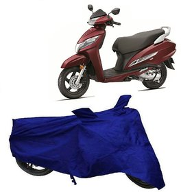 Utkarsh Blue Matty Two Wheeler Scooty Body Cover For Activa 125 Fi With Mirror Pockets