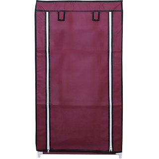 Anr Store Shoe Rack With Cover 6 Layers Maroon