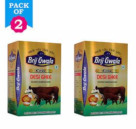 Brij Gwala Pure Cow Desi Ghee 1 Ltr Tetra Pack Of 2