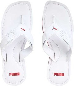 Puma Men's White Caper Slippers And Flip Flop