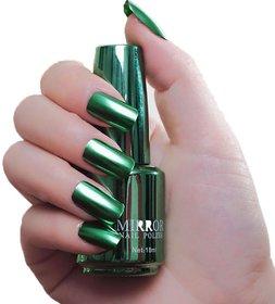 Huda Beauty Cosmetic Mirror Nail Paint - Set Of 3 Green Magenta Sky Blue