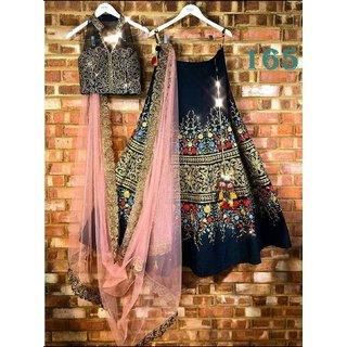 Beautiful Designer Tafetta Silk Embroidery Work Lehenga