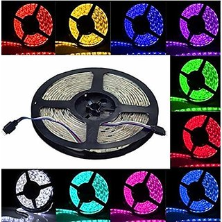 Led Strip Rgb Remote Control Led Strip Light For Home Decoration With 2A Adapter (Multicolour, 5050, 300 Led)