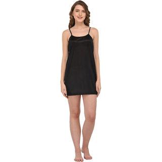 You Forever Women's Satin Nightwear Sleepwear Short Nighty