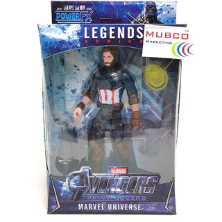 Mubco Marvel Avengers Endgame Captain America With Gauntlet Shield Action Figure Infinity Stone