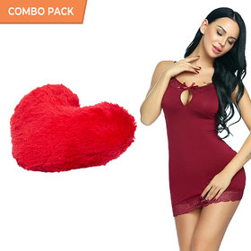 Billebon Comfortable Honeymoon Dress Combo -Sexy Billebon Lingerie And Dress Honeymoon Dresses For Women With Heart Pilo