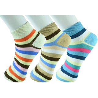 Vt Virtue Traders Women's Striped Ankle Length