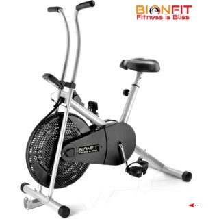 Bionfit Air Bike Exercise Cycle With Fixed Handles Adjustable Seat With Cushion Exercise Cycle