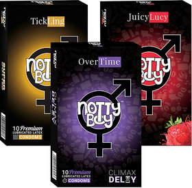 Nottyboy Extra Dotted, Extra Time  Fruit Strawberry Flavored (3X10S)